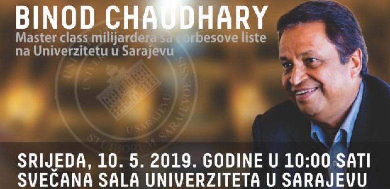 Posjeta i predavanje Binoda Chaudharyja, milijardera sa Forbesove liste, na UNSA