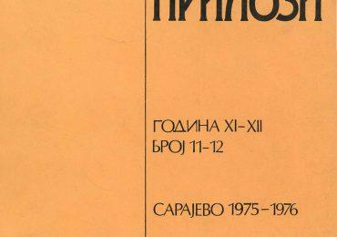 Prilozi br. 11-12 (1975-1976)