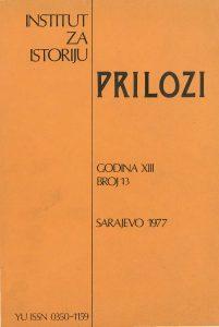 Prilozi br. 13 (1977)