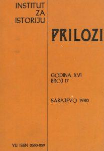 Prilozi br. 17 (1980)