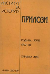 Prilozi br. 18 (1981)