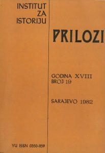 Prilozi br. 19 (1982)