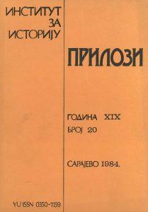 Prilozi br. 20 (1984)