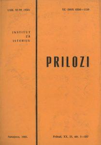 Prilozi br. 21 (1985)