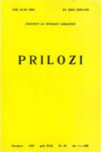 Prilozi br. 23 (1987)