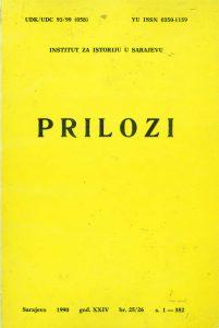 Prilozi br. 25/26 (1990)