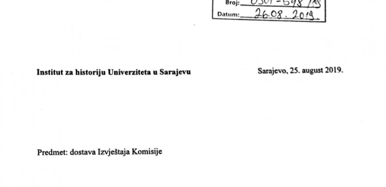 Izvještaj komisije za izbor u zvanje