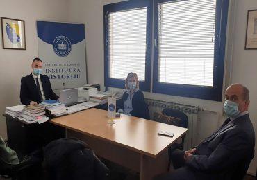 Ministrica za nauku, visoko obrazovanje i mlade KS i Rektor UNSA u posjeti Institutu za historiju